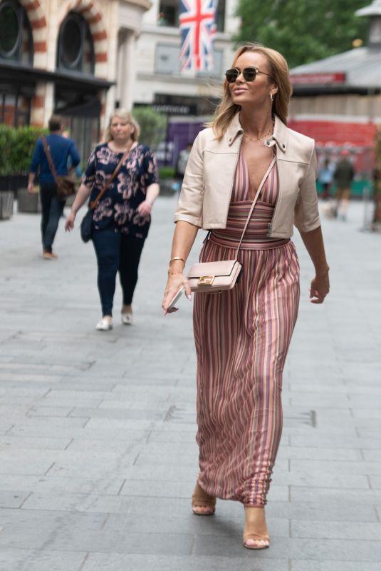 AMANDA HOLDEN Arrives at Global Radio in London 07/07/2021