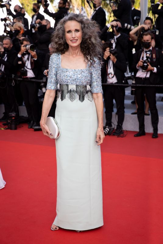 ANDIE MACDOWELL at Annette Screening and Opening Ceremony at 74th Cannes Film Festival 07/06/2021