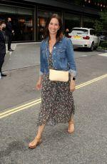 ANDREA MCLEAN Leaves Nobu Restaurant in London 07/16/2021