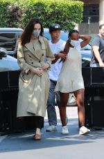 ANGELINA JOLIE Out Shopping with Zahara and Pax at Nordstrom in Los Angeles 07/13/2021