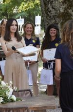 ANGELINA JOLIE Sponsor Women for Bees Project at Graduation Ceremony at Sainte-Baume in Mazaugues 07/21/2021
