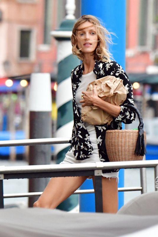 ANJA RUBIK Arrives at Her Hotel in Venice 07/13/2021