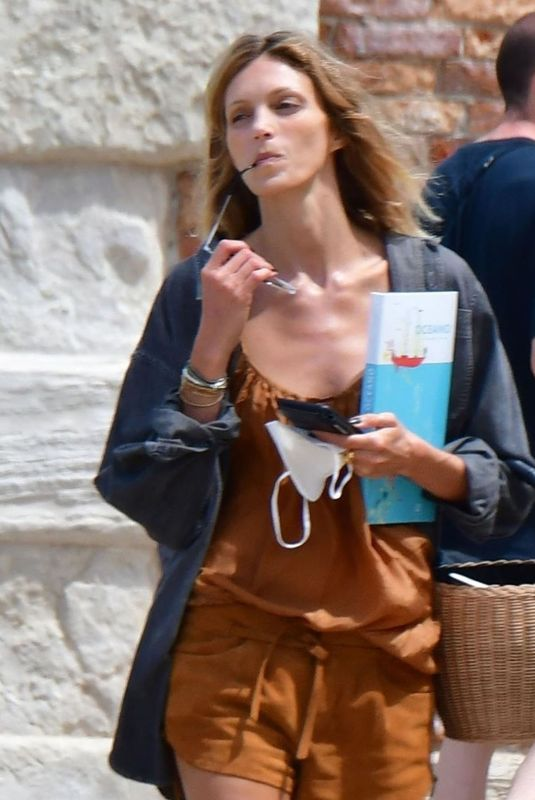 ANJA RUBIK Out and About in Venice 07/14/2021
