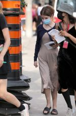 ANNA KENDRICK on the Set of Alice, Darling in Toronto 07/15/2021
