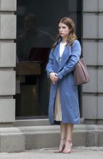ANNA KENDRICK on the set of Alice, Darling in Toronto 07/19/2021