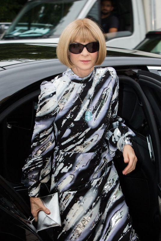 ANNA WINTOUR Arrives at Louis Vuitton Parfum Dinner at Foundation Louis Vuitton in Paris 07/05/2021
