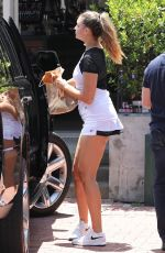 APRIL LOVE GEARY Arrives at a Tennis Class in Malibu 07/06/2021