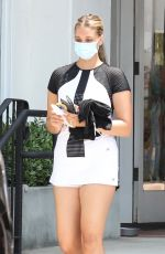 APRIL LOVE GEARY at Country Mart after Tennis Class in Malibu 07/15/2021