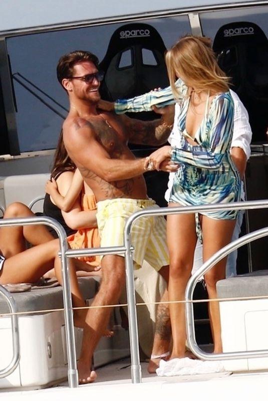 ARABELLA CHI and DJ Thomas 'Tom' Zanetti at a Yacht in Formentera 07/07/2021