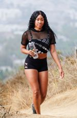 ARIAN ANDREW Out Hiking at Runyon Canyon in Los Angeles 07/02/2021