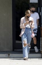ASHLEE SIMPSON in Ripped Denim Out in Los Angeles 07/23/2021