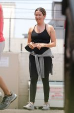 ASHLEY TISDALE Workout at Rise Nation Gym in West Hollywood 07/13/2021
