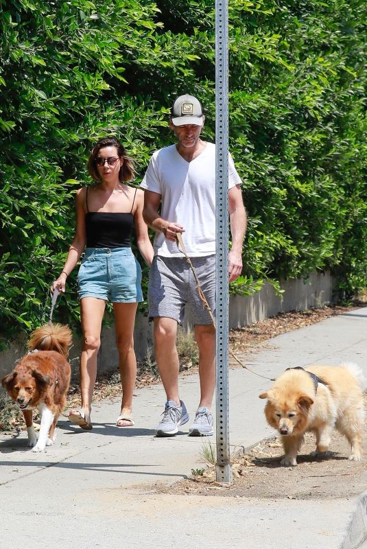 AUBREY PLAZA and Jeff Baena Out with Their Dogs in Los Feliz 07/25/2021