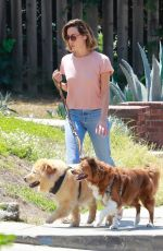 AUBREY PLAZA Out with Her Dogs in Los Feliz 07/17/2021