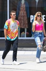 AVA PHILLIPPE on a Lunch Date with Her Boyfriend in Los Angeles 07/27/2021