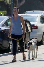 AVA PHILLIPPE Out with Her Dog in Brentwood 07/21/2021