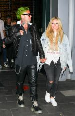 AVRIL LAVIGNE and Mod Sun at BOA Steakhouse in West Hollywood 07/08/2021