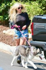 AVRIL LAVIGNE Out with her Dog in Calabasas 07/14/2021