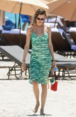 BEHATI PRINSLOO in a Green Dress Out in Miami Beach 07/03/2021
