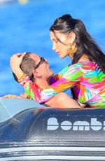 BELLA HADID and Marc Kalman Out Kssing in French Riviera 07/10/2021