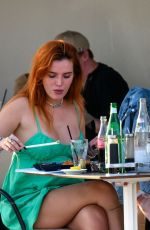 BELLA THORNE and Benjamin Mascolo Out for Dinner in Cannes 07/17/2021