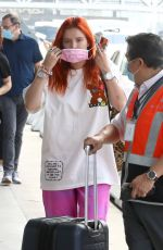 BELLA THORNE at LAX Airport in Los Angeles 07/25/2021