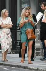 BIANCA GASCOIGNE Out with Frat Aubaine in London 07/24/2021