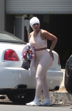 BLAC CHYNA Leaves a Gym in Los Angeles 07/20/2021