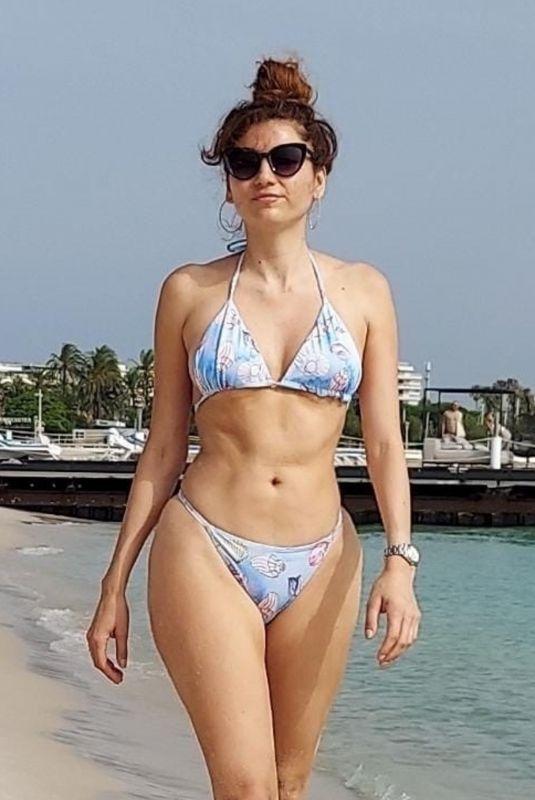 BLANCA BLANCO in Bikini at a Beach in Cannes 07/16/2021