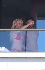 BRITNEY SPEARS in Bikini at a Hotel Balcony in Hawaii 06/30/2021