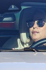 BRITNEY SPEARS Out Driving in Thousand Oaks 07/27/2021