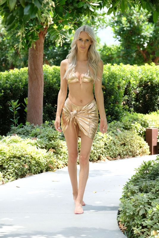 BUNNY BARBIE in Bikini at a Pool in Los Angeles 07/22/2021