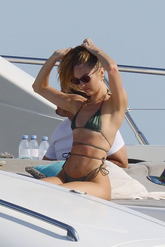 CANDICE SWANEPOEL in Bikini at a Yacht in French Riviera 07/03/2021