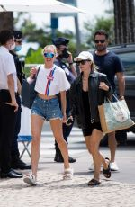 CANDICE SWANEPOEL in Denim Shorts Out in Cannes 07/07/2020
