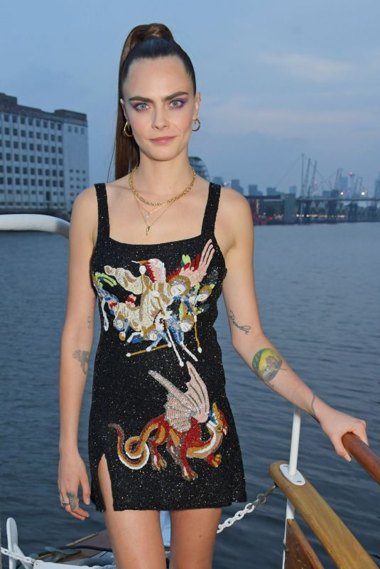 CARA DELEVINGNE at a Dinner Hosted by Alejandro Agag in London 07/24/2021