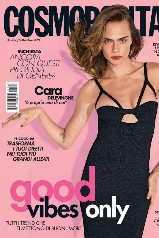 CARA DELEVINGNE in Cosmopolitan Magazine, Italy August 2021
