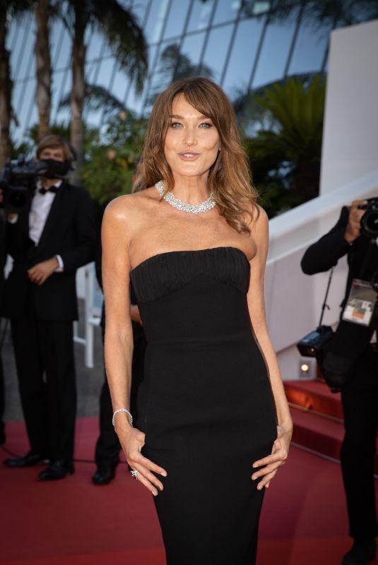 CARLA BRUNI at De Son Vivant Screening at 74th Annual Cannes Film Festival 07/10/2021
