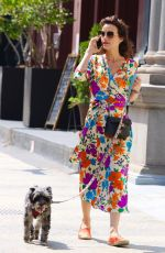CARLA GUGINO Out with Her Dog in New York 07/24/2021