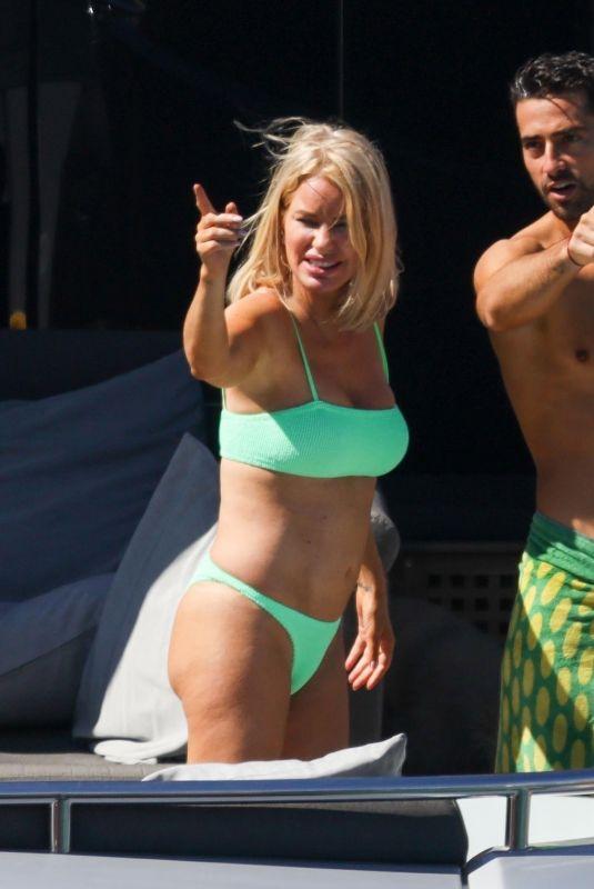 CAROLINE STANBURY in Bikini and Sergio Carrallo on Holiday in Mykonos 07/02/2021