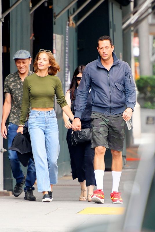 CAROLINE TYLER and Zachary Levi Out in New York 07/10/2021