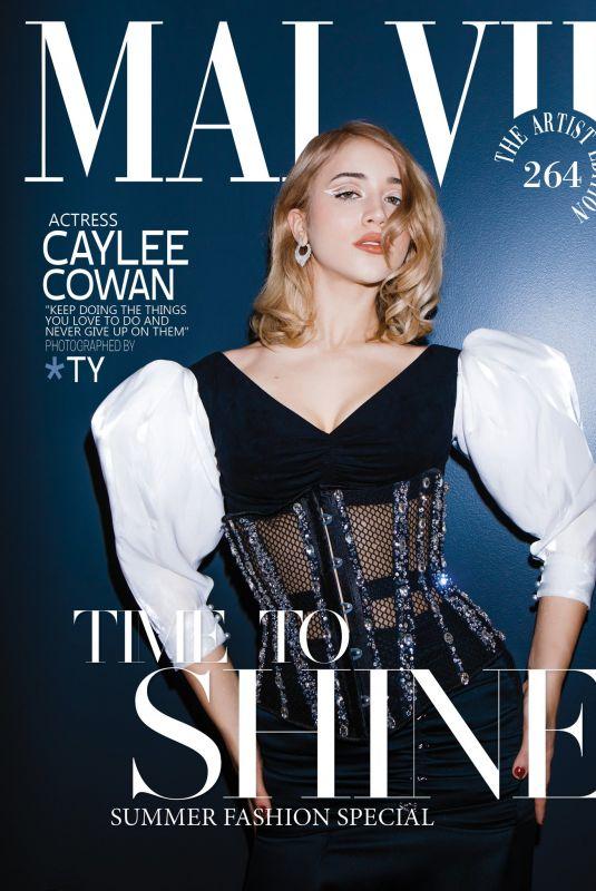 CAYLEE COWAN in Malvie Magazine, The Artist Edition vol 264, July 2021