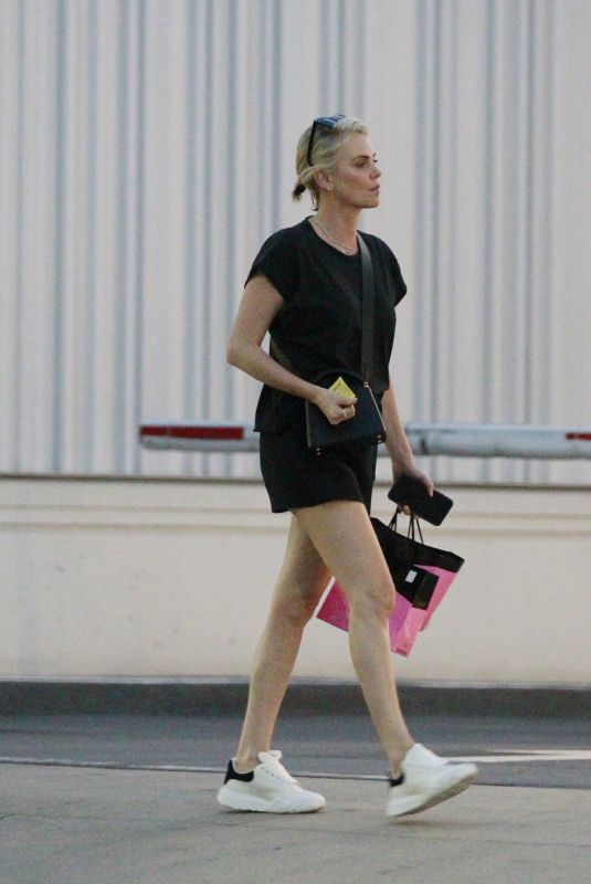 CHARLIZE THERON at Mr Chow's in Beverly Hills 07/19/2021