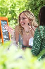 CHIARA FERRAGNI on Terrace of Martinez Hotel in Cannes 07/07/2021