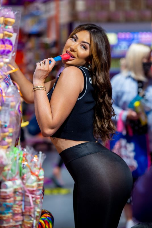 CHLOE FERRY Shopping at Kingdom Of Sweets in Liverpool 07/07/2021