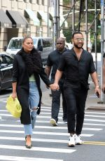 CHRISSY TEIGEN and John Legend Out in New York 07/30/2021