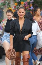 CHRISSY TEIGEN Out and About in New York 07/30/2021