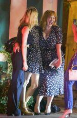 CHRISTINA HENDRICKS, KIERNAN SHIPKA and JANUARY JONES Out for Dinner in Los Angeles 07/27/2021