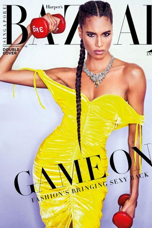CINDY BRUNA in Harper's Bazaar Magazine, Singapore July 2021