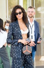 CINDY BRUNA Out at 74th Annual Cannes Film Festival in Cannes 07/17/2021