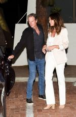 CINDY CRAWFORD and Rande Gerber Night Out in Malibu 07/24/2021